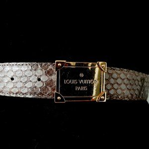 Louis Vuitton python leather belt 30mm